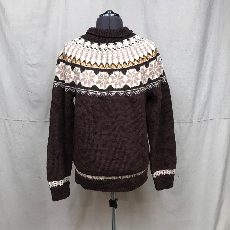 feaa96363ca037 Vintage Chunky Sweater    Brown Knit Wool Sweater Unisex