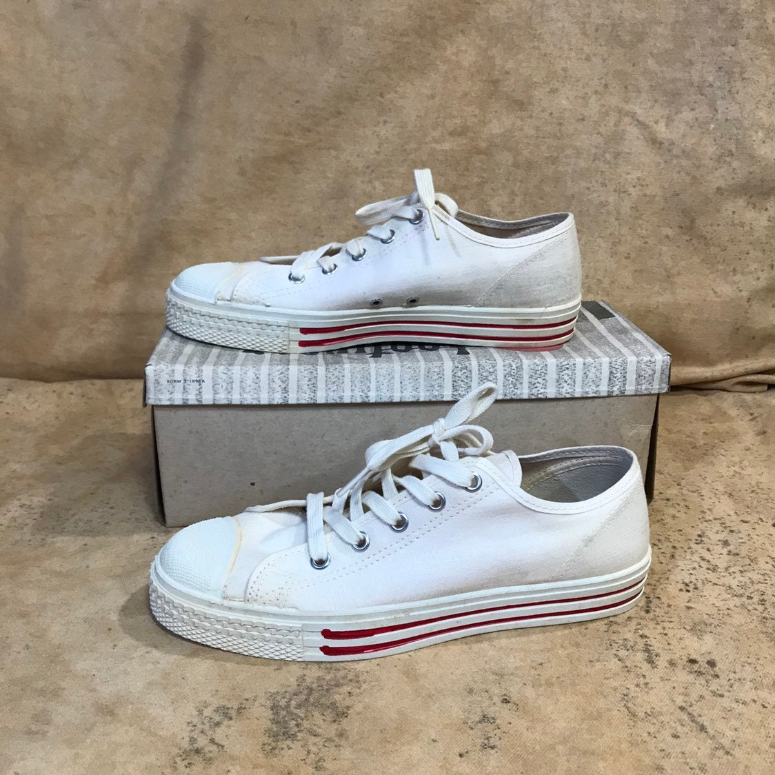 eb52ec3ef21119 Canvas shoes jets low tops deadstock mens size womens size sneakers red  band jets jpg 1124x1124