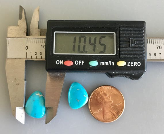 SB312 Light Blue Turquoise Sleeping Beauty Cabochon Pair Pair Cabochon Natural 9.5 Carat Cab Stone Oval Natural Pair Earrings Lot Set 2107b0