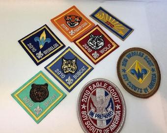 32c542a93cdcb National Boy Scout Centennial badges lot - Wolf eagle scout webelos order  the aero tiger cub bobcat bear