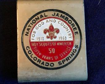 1960 Vintage Cub Scout BELT LOOP - RARE - bsa - Boy Scouts of america - Jamboree - National Jamboree - 50th anniversary of scouting