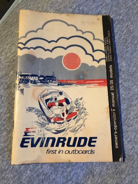 Array - evinrude  operators service manual 25 35 models oem pn 209388 1980 owners manual  rh   etsy com