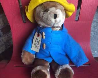 """Vintage 1975 19"""" Paddington Bear, Darkest Peru to London England Eden Toys"""