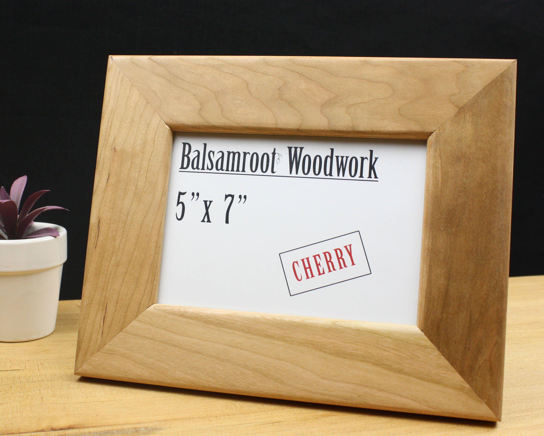 marco 5 x 7, marco de fotos madera cerezo, marco 5 x 7, marco de ...