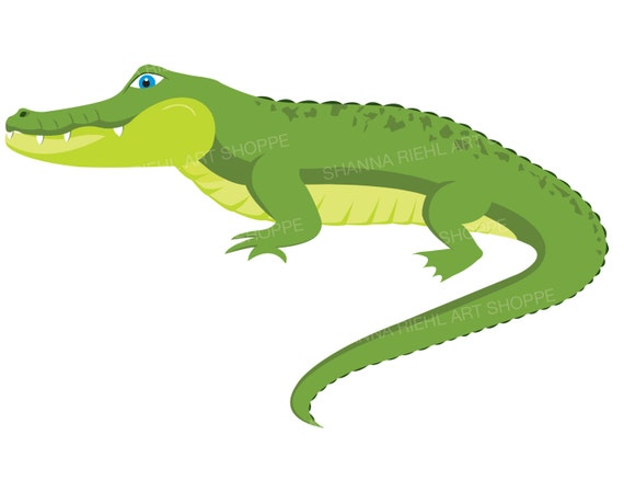 alligator clipart crocodile digital download art etsy rh etsy com alligator clip art pinterest alligator clip art border