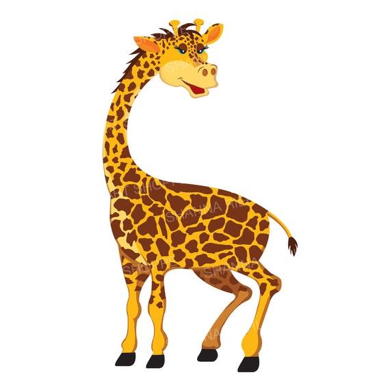 giraffe clipart jungle safari baby shower instant download etsy rh etsy com giraffe clip art pictures giraffe clipart baby