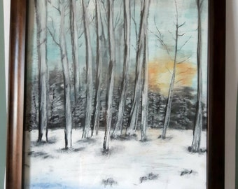 Framed artwork, Large painting, Landscape art, Wall art