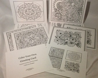 Color your Own Greeting Cards (Set #5)