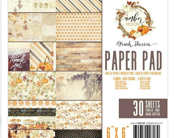 Amber moon 6x6 paper pad