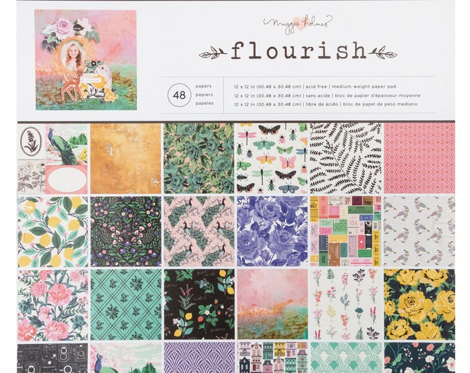 Flourish by maggie holmes 12x12 paper pad