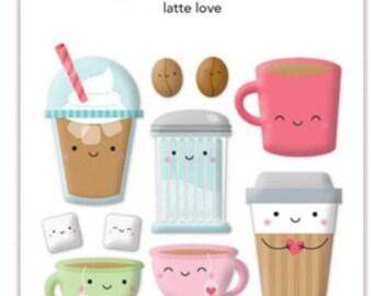 Doodle bug-cream and sugar latte love sprinkles
