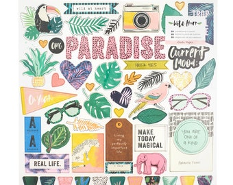 Wild heart by crate paper chipboard stickers
