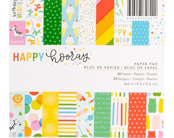 Happy hooray 6x6 paper pad