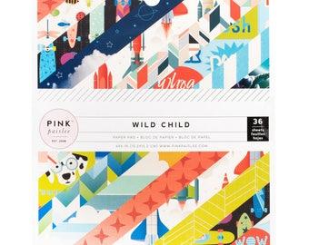 Wild child boy/girl paper pad 6x6