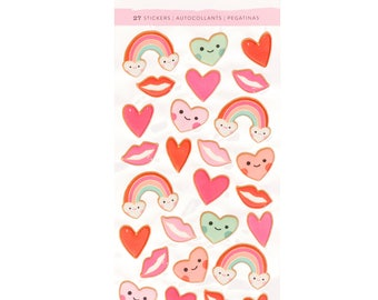 Main squeeze puffy stickers