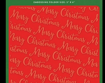Merry christmas embossing folder
