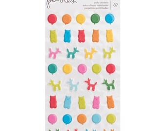 Happy hooray puffy icon stickers