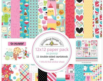 Doodlebugso punny 12x12 paper pack