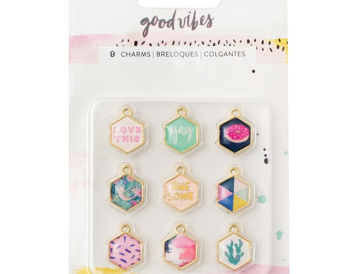 Good vibes charms by crate paper