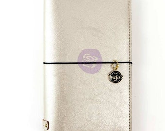 Champagne prima traveler notebook cover