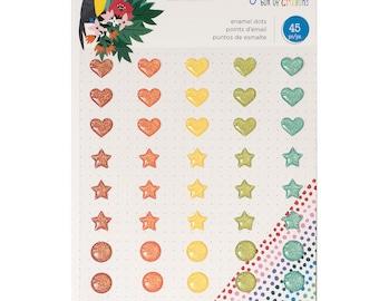 Box of crayons by shimelle large enamel shapes