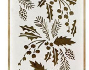 Festive layering stencil