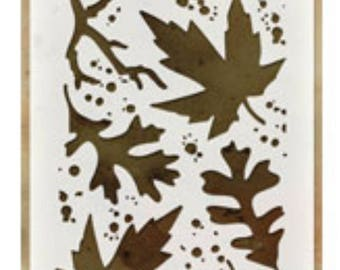 Autumn layering stencil