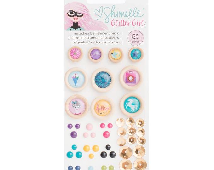 Shimelle glitter girl embellishment pack