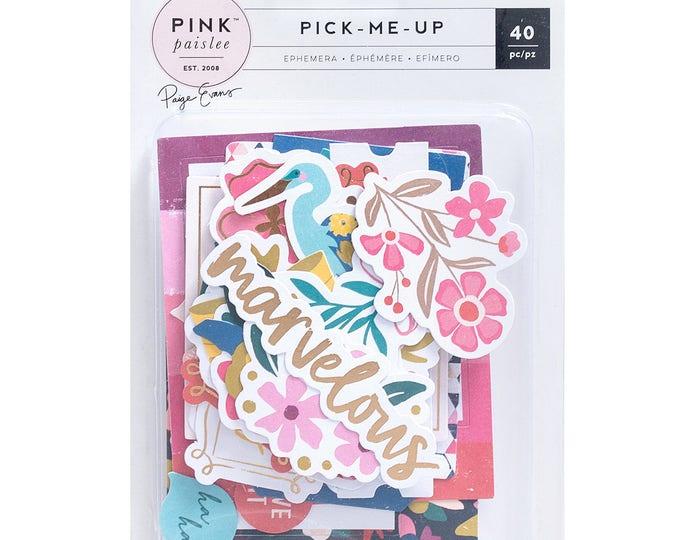 Pick me up pink paislee ephemera pack