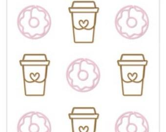 Doodlebug cute clips coffee shop