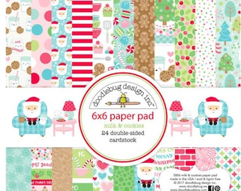Doodlebug milk and cookies paper pad
