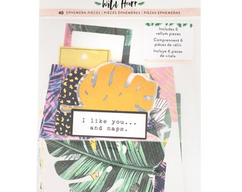 Wild heart by crate paper ephemera pack