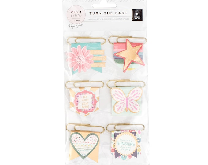 Turn the Page Paige Evans flag paper clips