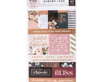 Auburn lane label sticker book