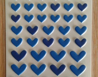 Bella blvd puffy heart stickers blueberry mix