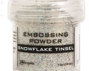 Snowflake tinsel embossing powder 1 oz