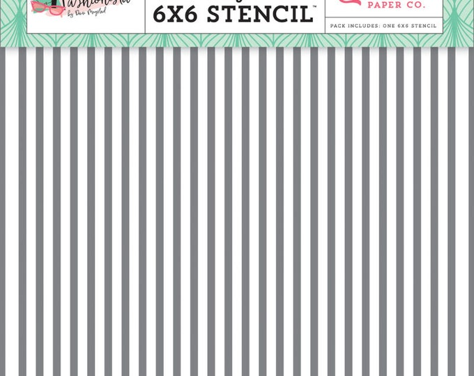 Fashionista glamour stripe 6x6 stencil