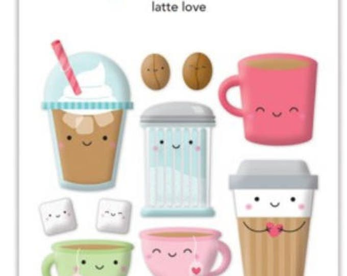 Doodle bug-cream and sugar latte love sprinkles