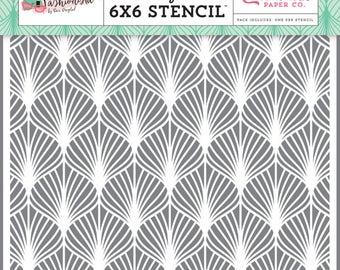 Fashionista classy fan 6x6 stencil set