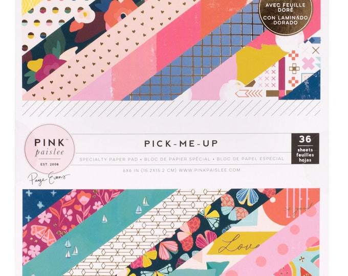 Pick me up pink paislee 6x6 paper pad