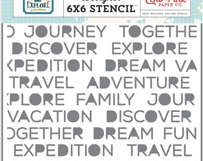 Go see explore 6x6 echo park stencil