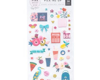 Pick me up pink paislee puffy stickers