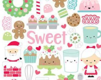 Doodlebug milk and cookies icon stickers