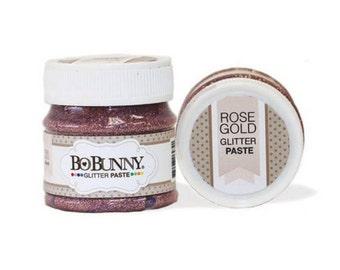 Bo bunny rose gold glitter paste