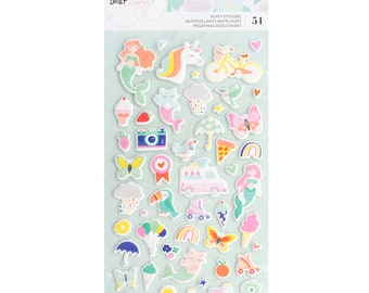 Stay colorful dear lizzy puffy stickers