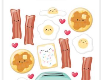 Doodlebug breakfast buddies sprinkles stickers so punny
