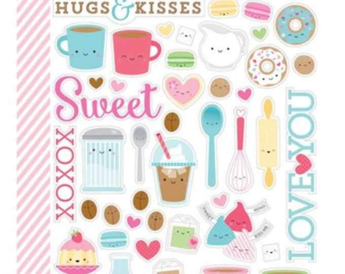 Doodlebug Cream and sugar- mini icon stickers