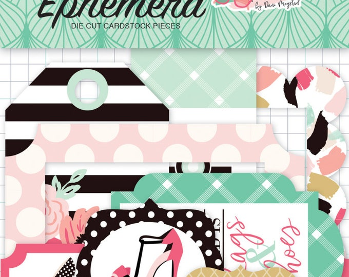 Fashionista frames and tags ephemera
