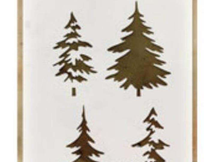 Woodland layering stencil