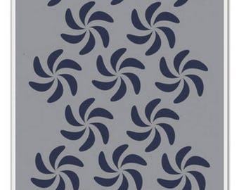Dina media stencils-bendy pinwheels